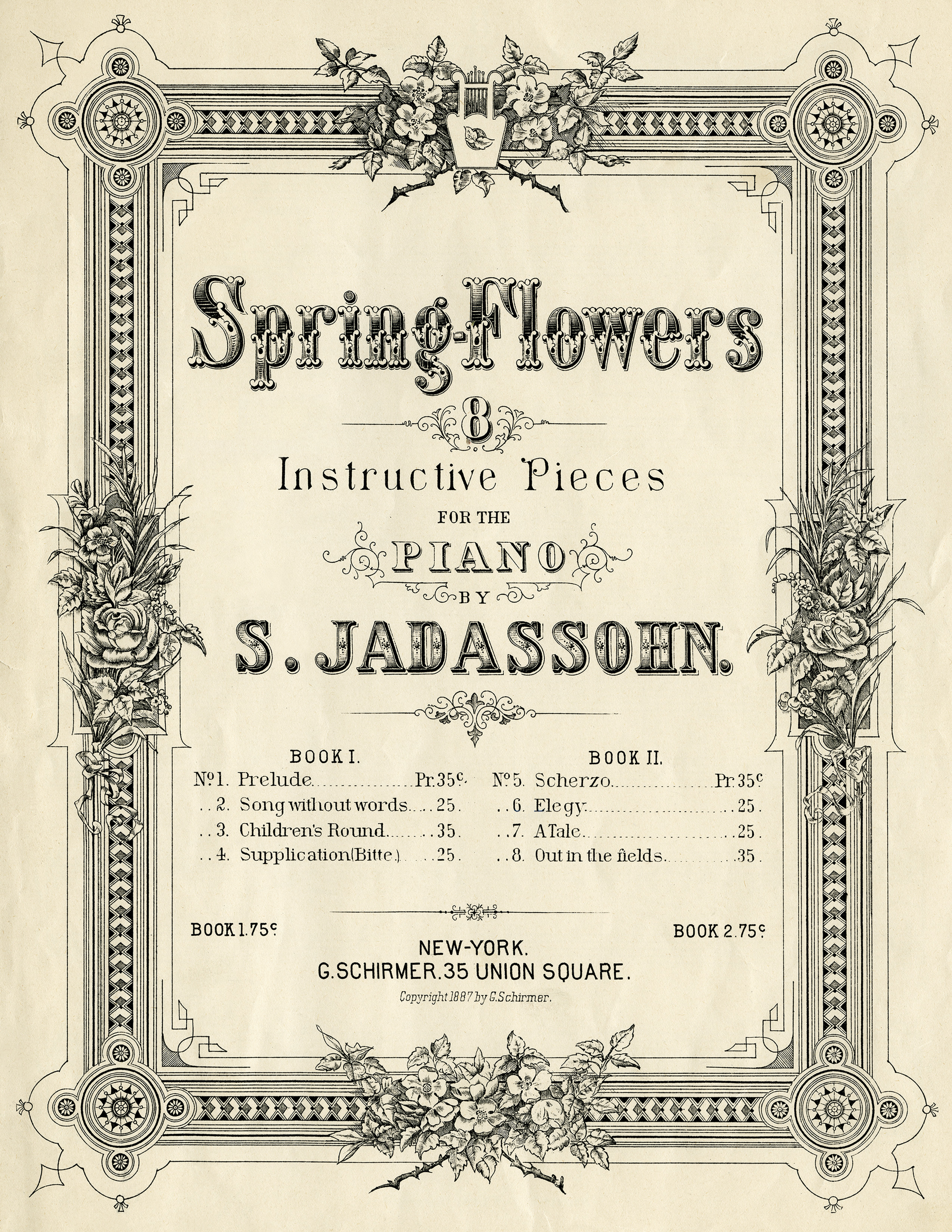 Free vintage image spring flowers sheet music cover old design vintage sheet music spring flowers music sheet cover digital music graphic sheet mightylinksfo Image collections