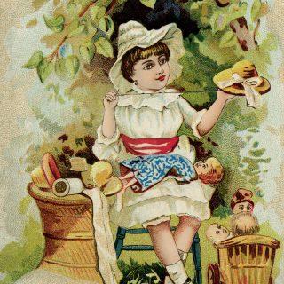 vintage sewing ad card