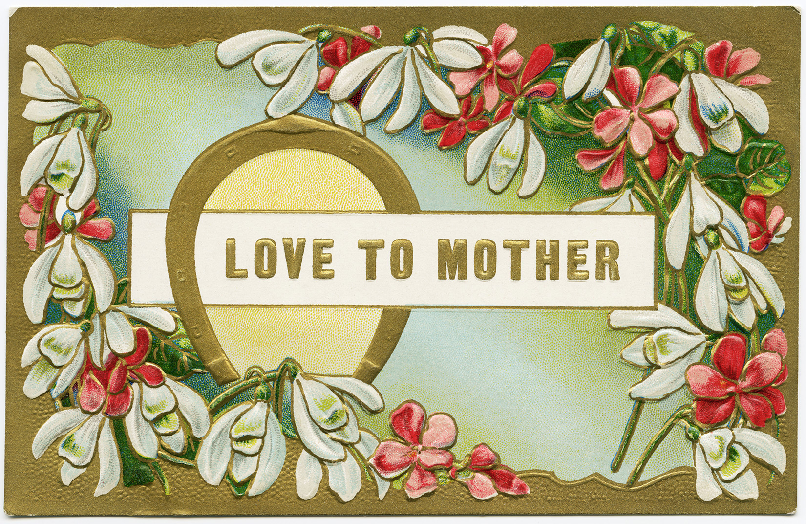 vintage mother card, postcard flowers, digital floral clip art, victorian mothers day image, vintage digital graphics