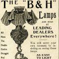 Free vintage clip art Bradley Hubbard lamp magazine advertisement