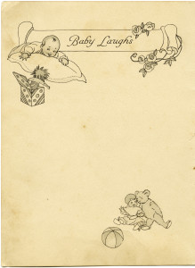 Free printable vintage baby book page digital