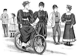 Free victorian fashion clip art illustration