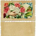 Free vintage clip art Victorian calling card hand roses fond wishes