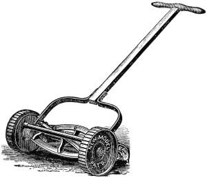 Free vintage clip art lawn mower