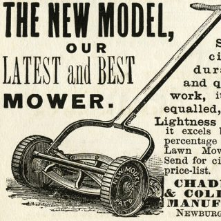 Free vintage clip art lawn mower magazine advertisement