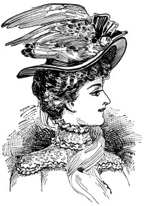 Victorian ladies hat vintage clip art