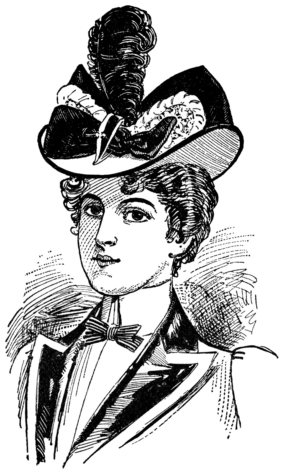 victorian hats for ladies clip art