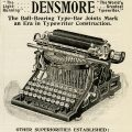 free vintage clip art Densmore typewriter magazine advertisement