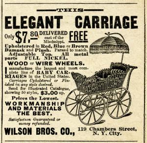 Free vintage baby carriage magazine advertisement