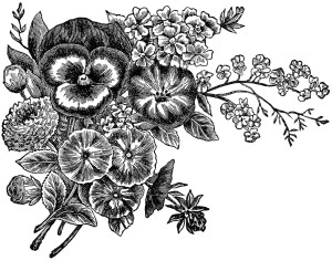 Free vintage clip art flowers