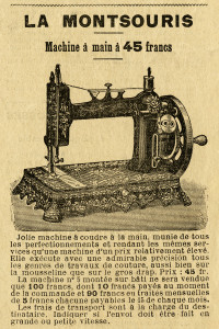 Free vintage clip art sewing machine French magazine advertisement