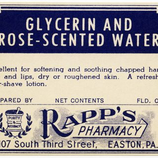 Free vintage clip art Rapps pharmacy glycerin and rose water label