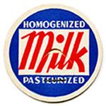 Free vintage clip art milk bottle cap red white blue