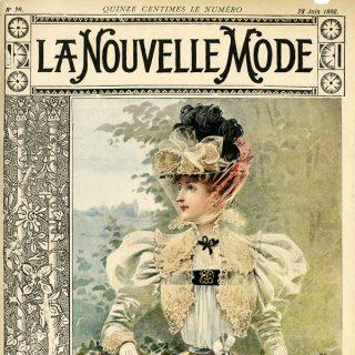 Free vintage clipart French fashion La Nouvelle Mode magazine cover