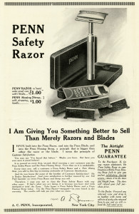 Free vintage shaving razor magazine advertisement