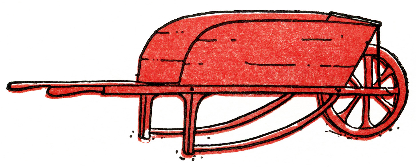 Red Wooden Vintage Wheelbarrow | Old Design Shop Blog