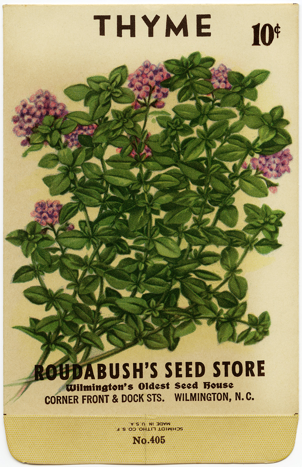 Free Vintage Image Thyme Seed Packet Old Design Shop Blog