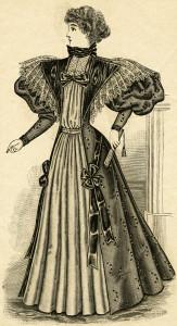 Free Victorian lady clip art illustration