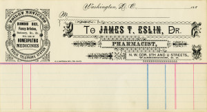 Free vintage clip art medical pharmacist invoice ledger page