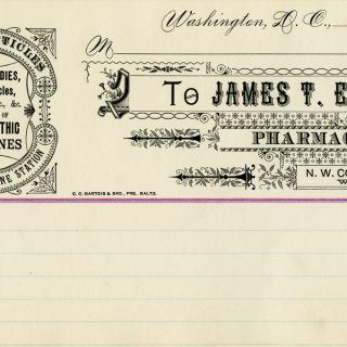 Free vintage clip art medical pharmacist invoice ledger page