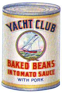 Free vintage printable book page yacht club beans