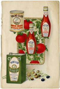 Free vintage printable book page yacht club food