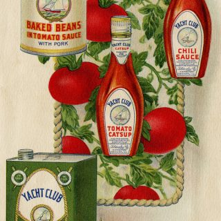 Free vintage printable book page yacht club food