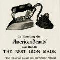 Free vintage clip art American Beauty iron magazine advertisement