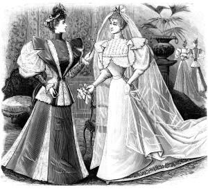 Free vintage bride clip art