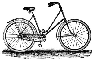 Free vintage clip art bicycle