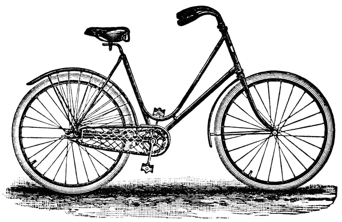 Vintage Bicycle Clip Art | Old Design Shop Blog