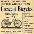 Free vintage clip art Crescent bicycle magazine advertisement
