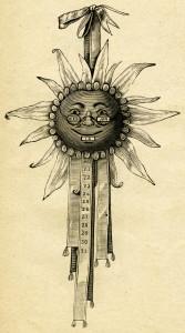 Free vintage moon face calendar