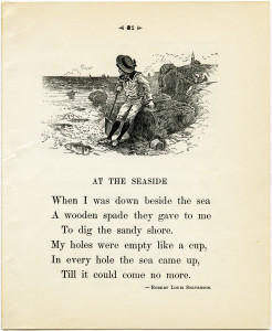 Free vintage printable poem at the seaside