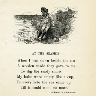 vintage poem at the seaside