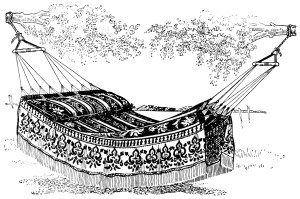 Free vintage hammock clip art
