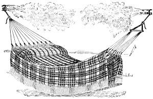 Free vintage hammock clip art illustration