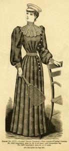 Free vintage ladies tennis dress clip art