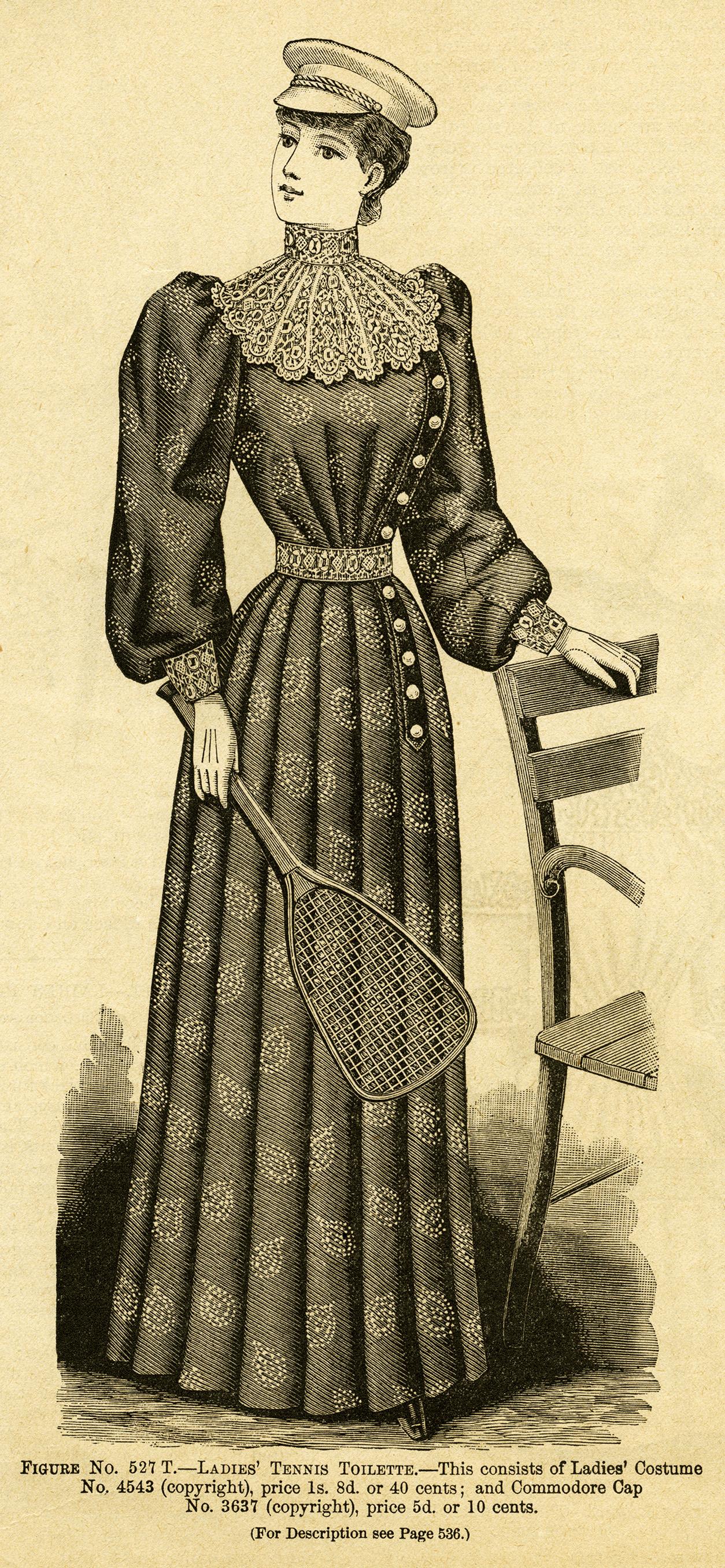 Vintage Ladies Tennis Outfit