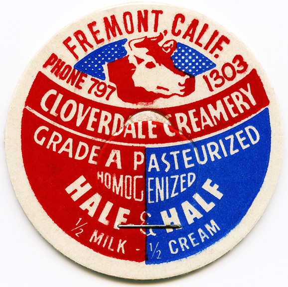 vintage milk bottle cap, cloverdale creamery, old milk lid, cardboard bottle top, vintage ephemera, free vintage image