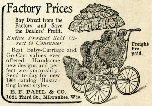 Free vintage baby carriage pram magazine advertisement