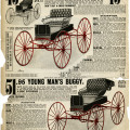 sears roebuck catalog, Victorian transportation, horse buggy clip art, vintage horse carriage image, old book page