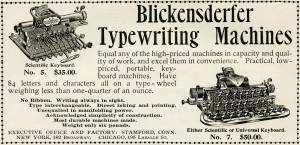 Free vintage typewriter magazine advertisement