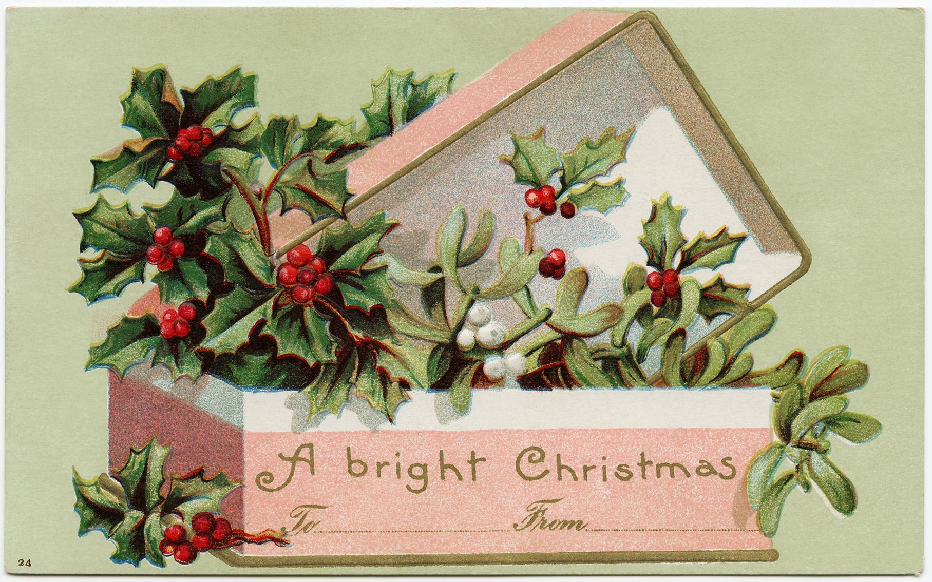 Рождественская открытка в англии, рисунки
