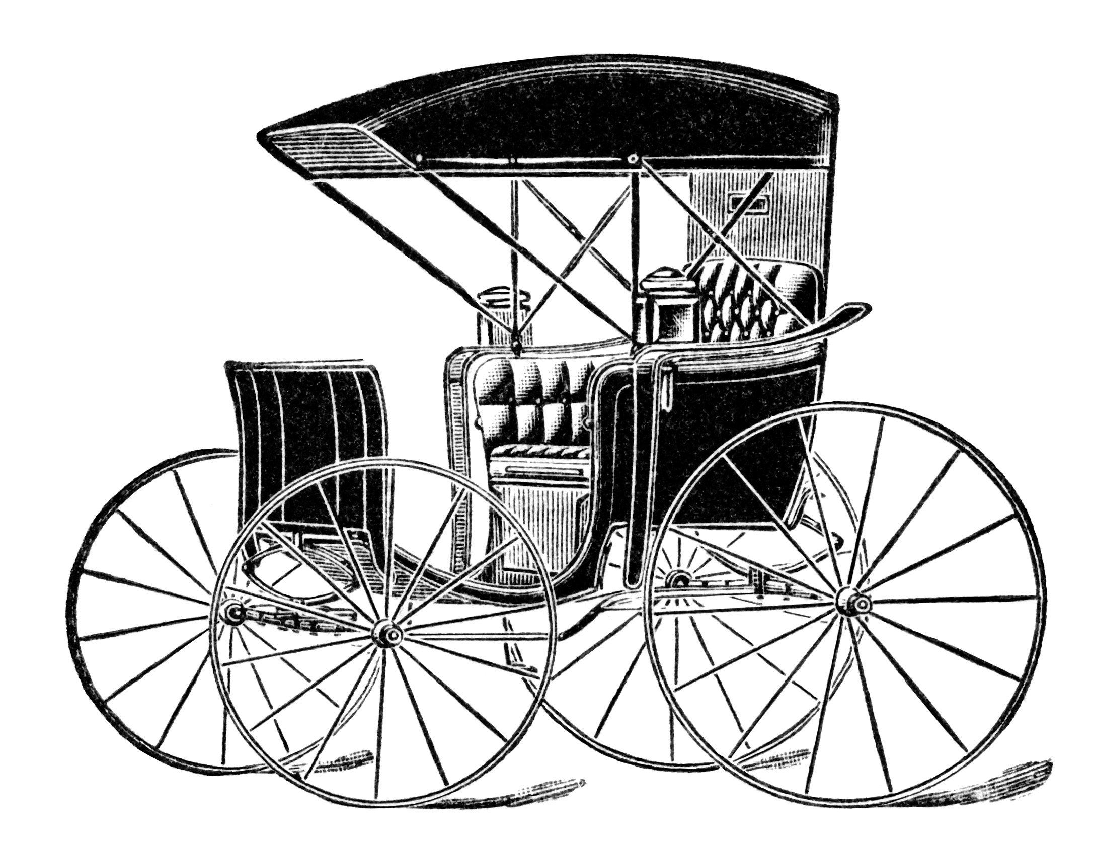 Horse Drawn Carriage Ad and Clip Art - Old Design Shop Blog