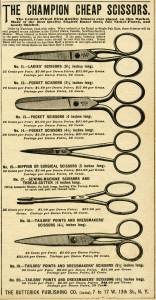 Free printable vintage scissors magazine ad digital