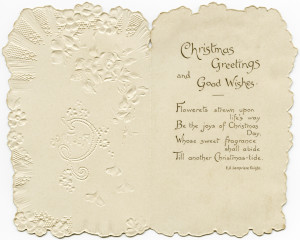 Victorian Christmas card, vintage pink flower image, antique floral graphics, printable greeting card, digital download Christmas