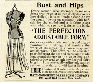 Free vintage sewing dress form magazine ad