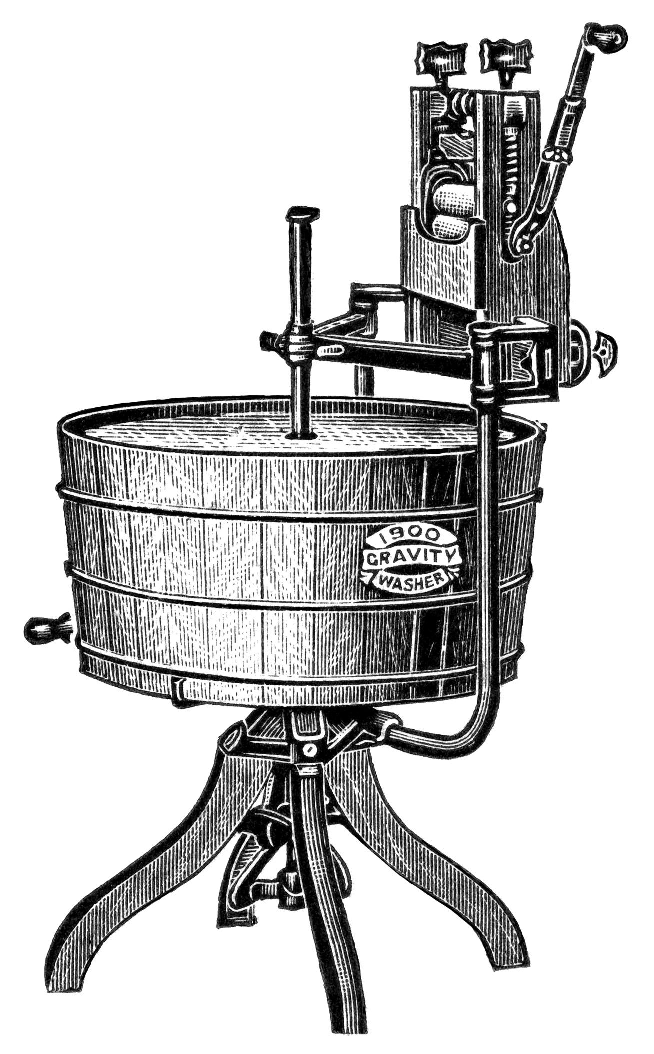 Vintage Washing Machine Clip Art Old Design Shop Blog
