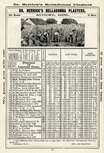 antique almanac, free digital graphics, herricks almanac, old book page, printable history ephemera